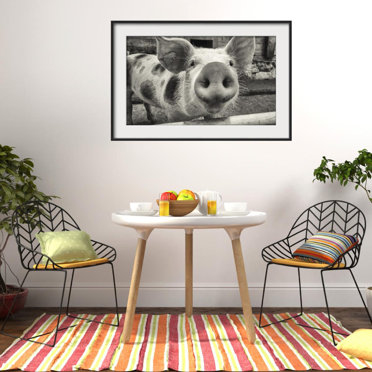 sticker cadre photo le porcelet stickers animaux animaux de la ferme ambiance sticker. Black Bedroom Furniture Sets. Home Design Ideas