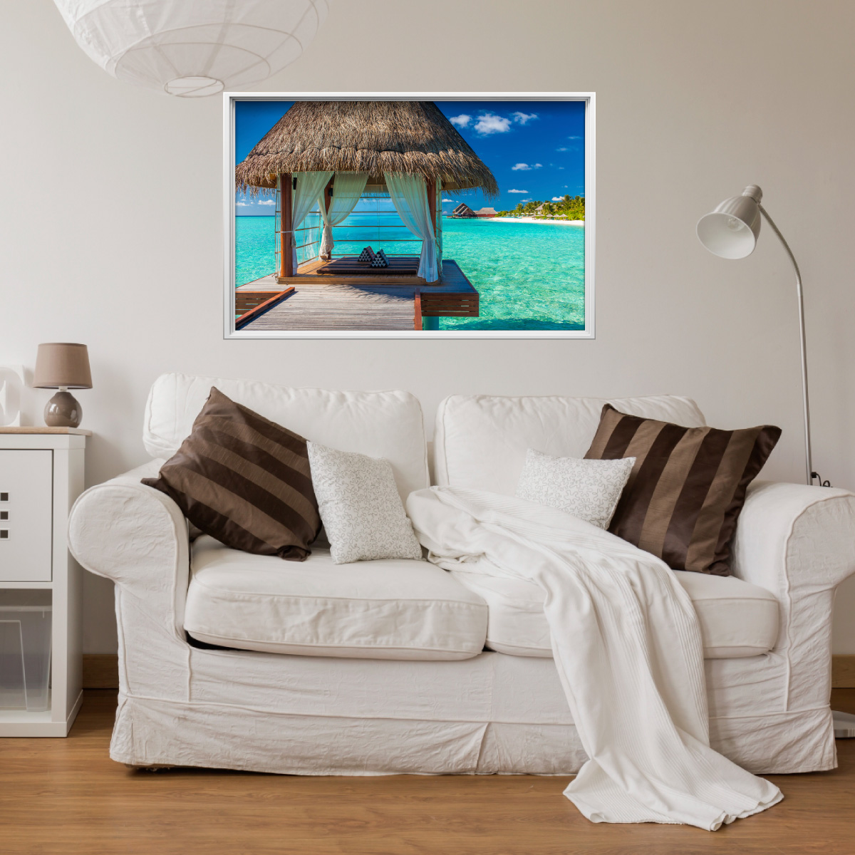 Sticker cadre photo paysage idyllique stickers art et design artistiques ambiance sticker - Style cadre photo ambiance ...