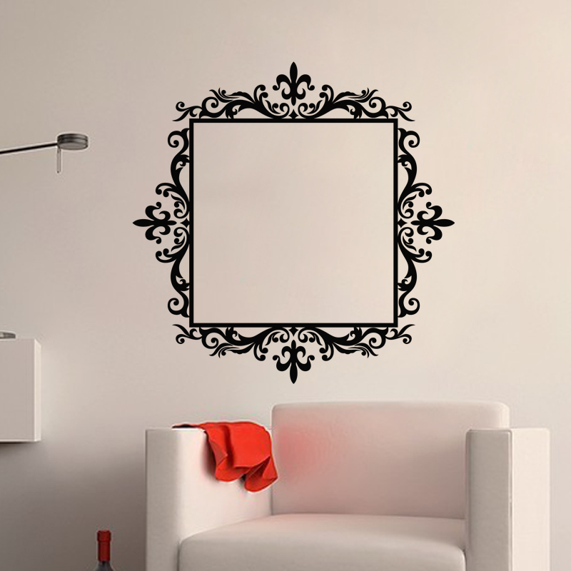 stickers muraux baroque sticker cadre royal ambiance. Black Bedroom Furniture Sets. Home Design Ideas