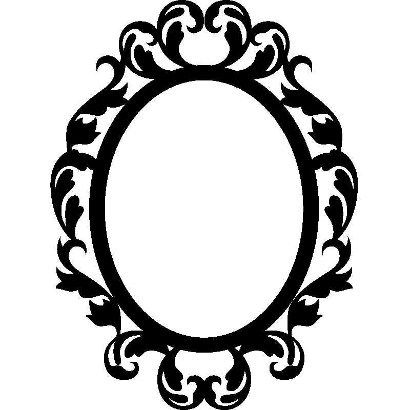 Mirror stickers for wall mirror sticker wall decor ideas for Miroir style baroque