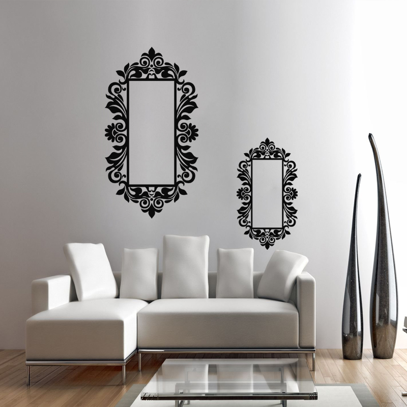 Stickers muraux baroque sticker cadre style mirroir ambiance - Style cadre photo ambiance ...