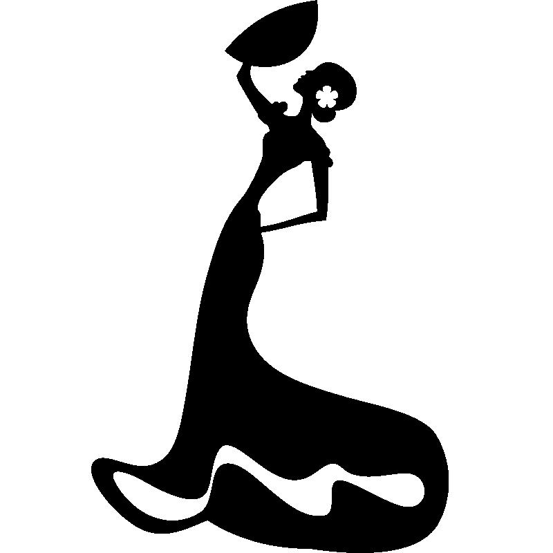 Stickers de silhouettes et personnages sticker - Dessin d une danseuse ...
