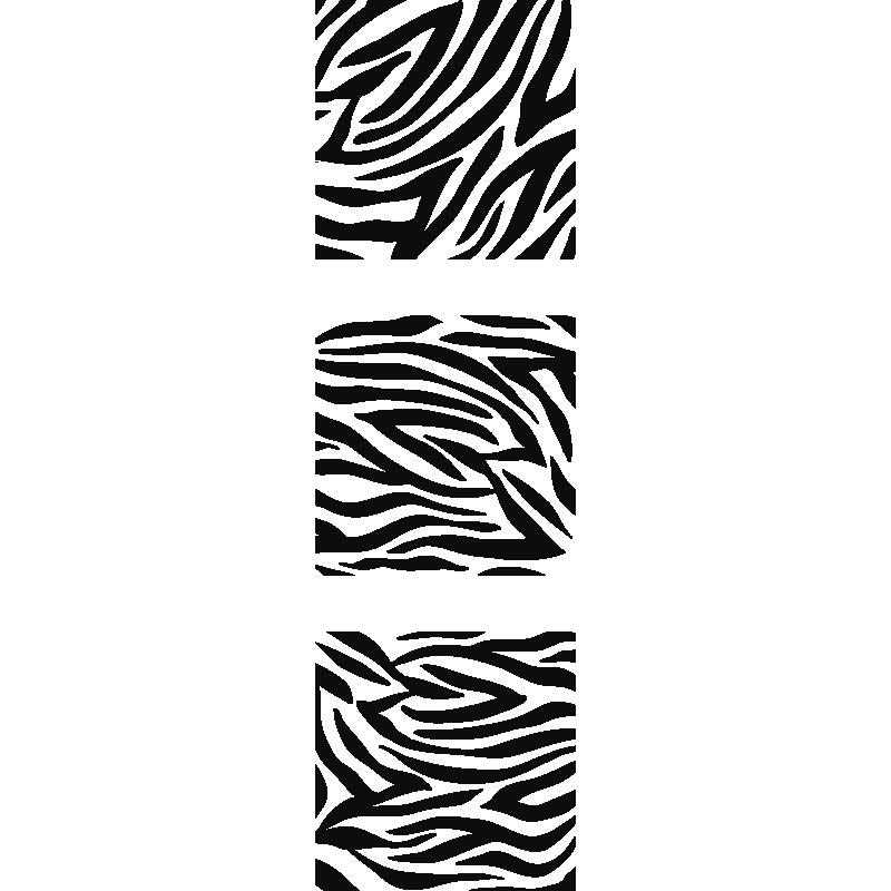 stickers muraux carr s avec motif z br. Black Bedroom Furniture Sets. Home Design Ideas