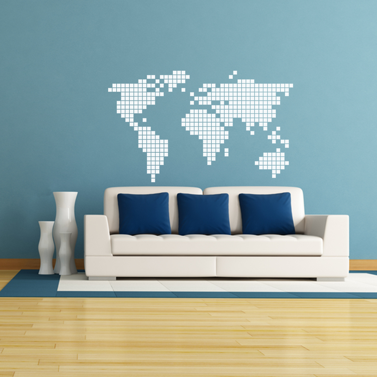 sticker carte du monde en 2d stickers villes et voyages pays et voyages ambiance sticker. Black Bedroom Furniture Sets. Home Design Ideas