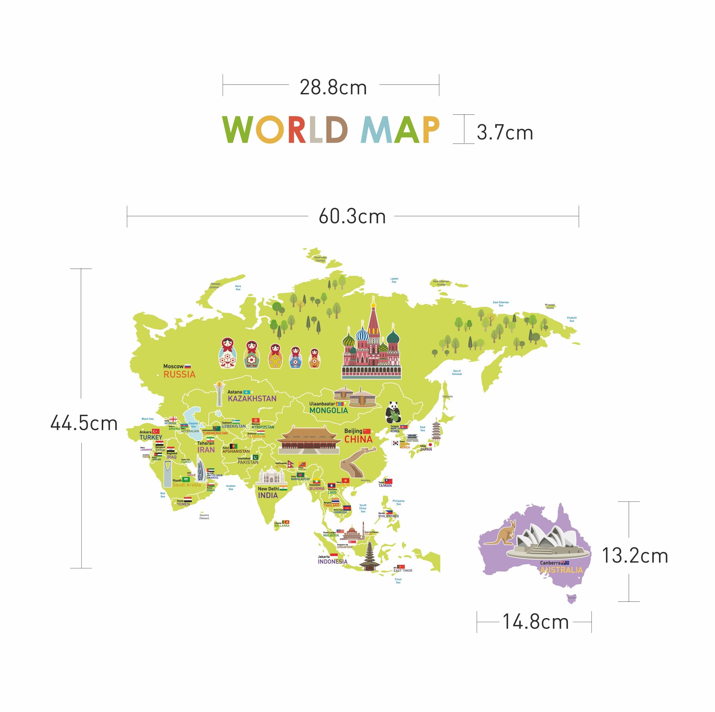 stickers pour les b b s sticker carte du monde g ante. Black Bedroom Furniture Sets. Home Design Ideas