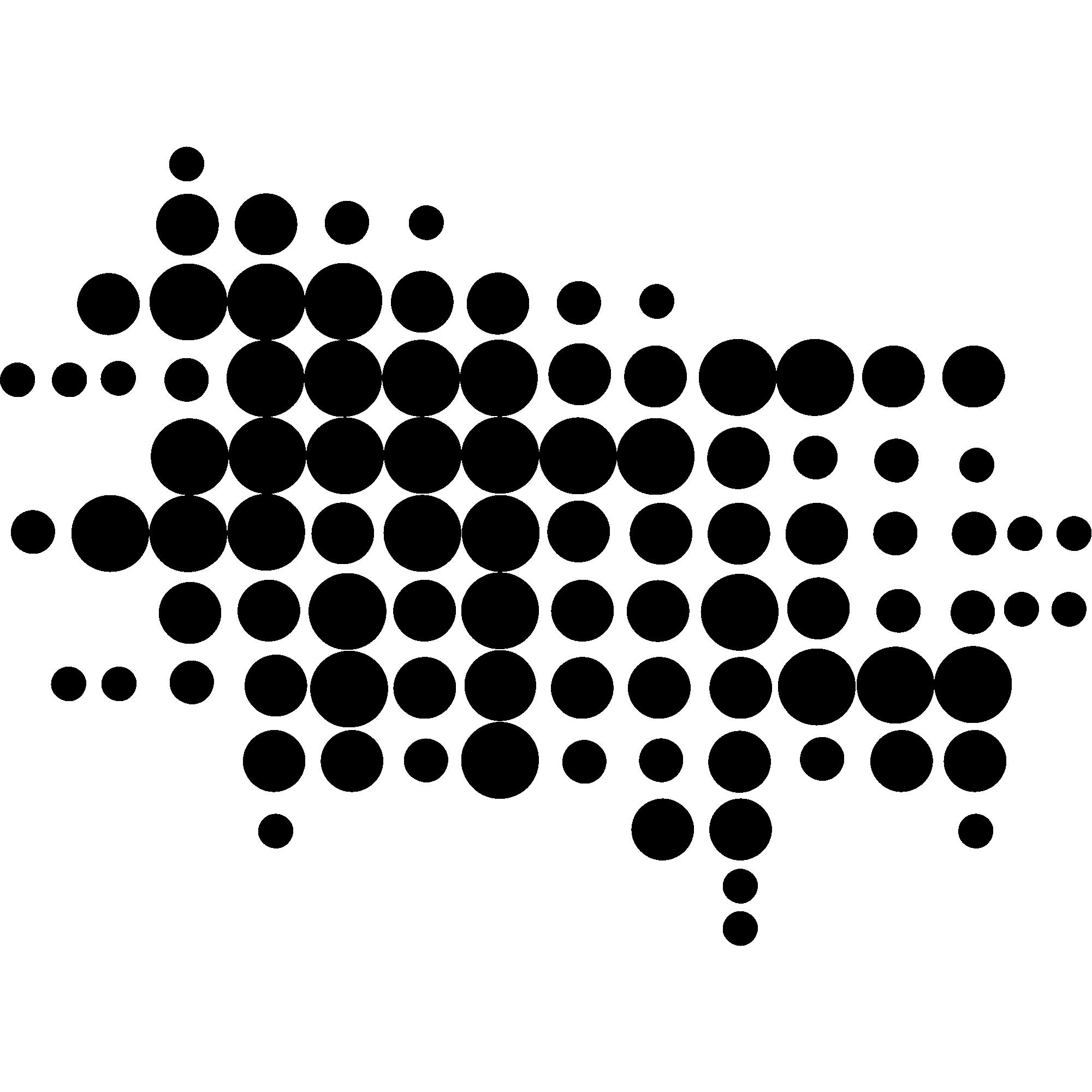 Sticker cercles design en pointillés – Stickers Art et Design