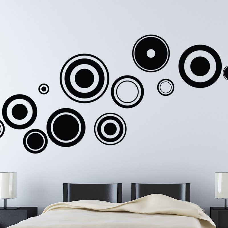 Stickers muraux design - Sticker mural cercles | Ambiance-sticker.com
