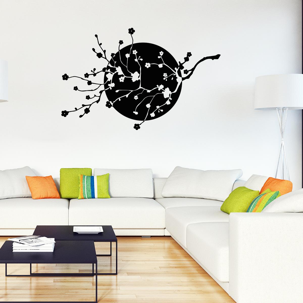 stickers muraux fleurs sticker cerisier japonais ambiance. Black Bedroom Furniture Sets. Home Design Ideas