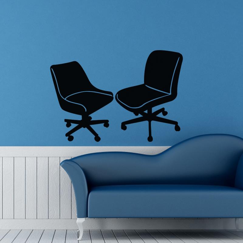 sticker chaises de bureau stickers art et design vintage ambiance sticker. Black Bedroom Furniture Sets. Home Design Ideas