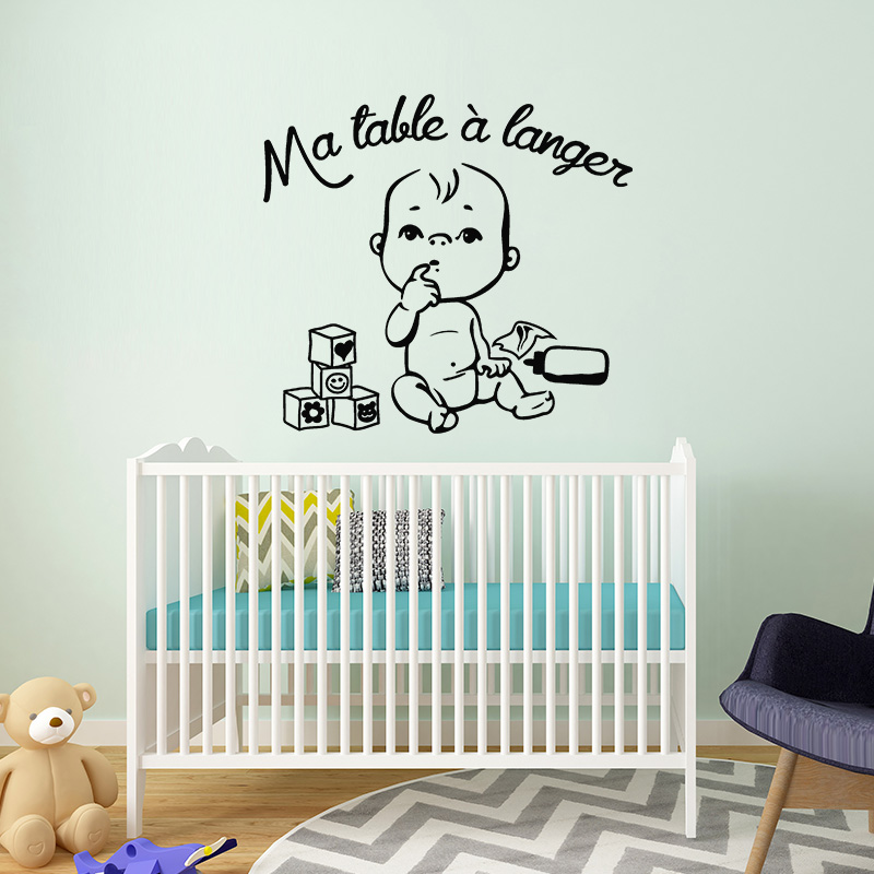 sticker chambre enfant citation la table langer stickers citations fran ais ambiance sticker. Black Bedroom Furniture Sets. Home Design Ideas