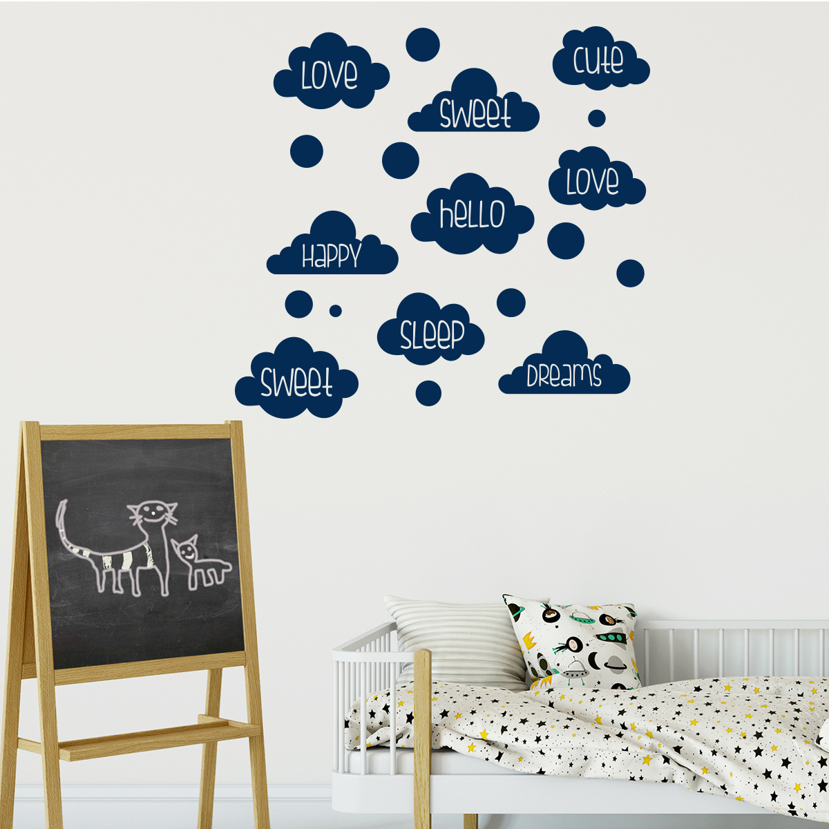 Sticker chambre enfant love sweet dreams stickers for Stickers chambre love