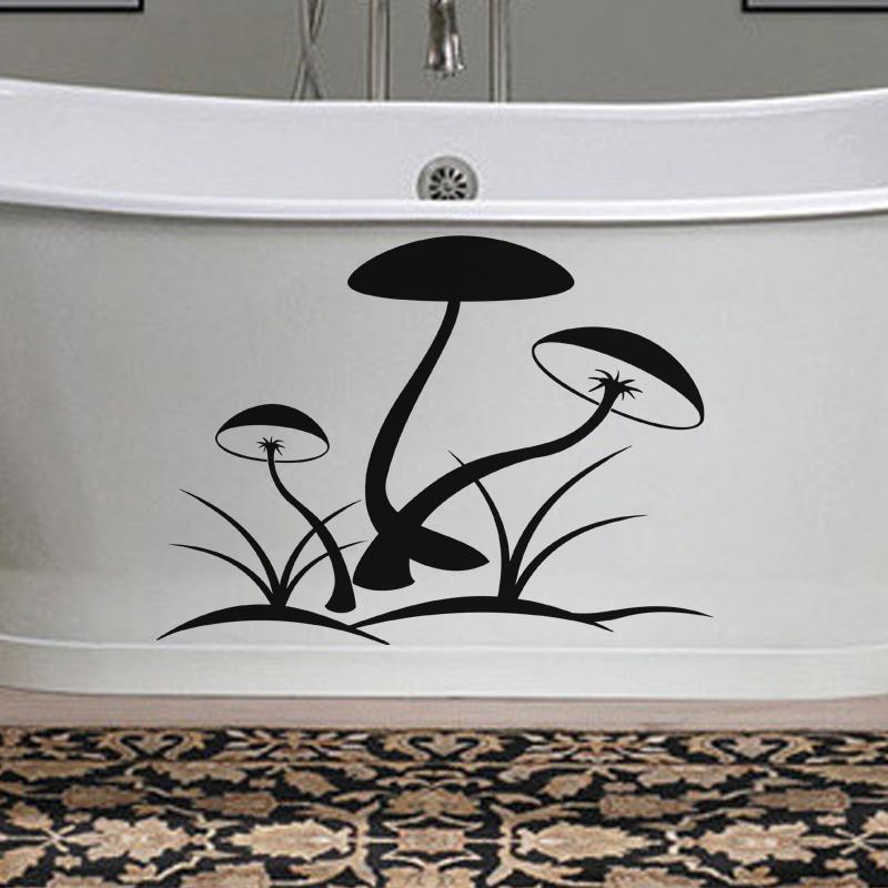 stickers muraux pour salle de bain sticker mural champs de champignons ambiance. Black Bedroom Furniture Sets. Home Design Ideas