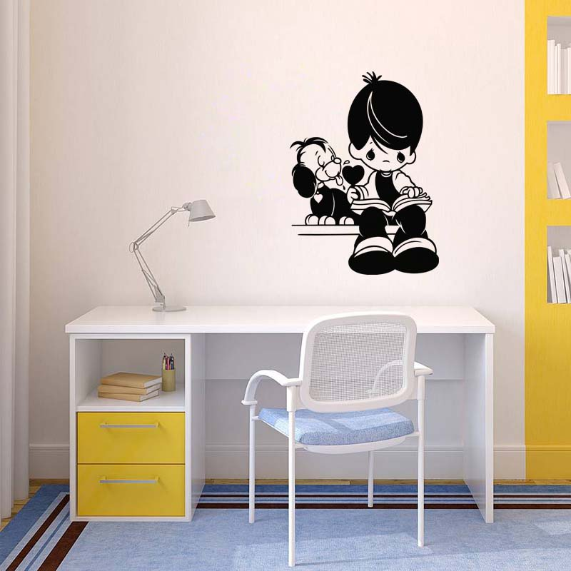 sticker chien c ur gar on livre stickers animaux. Black Bedroom Furniture Sets. Home Design Ideas