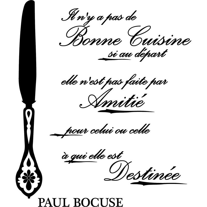 Sticker citation bonne cuisine si au d part paul - Citation cuisine humour ...