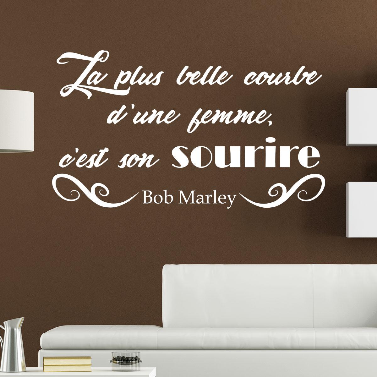 Sticker Citation Courbe d\'une femme de Bob Marley – Stickers ...