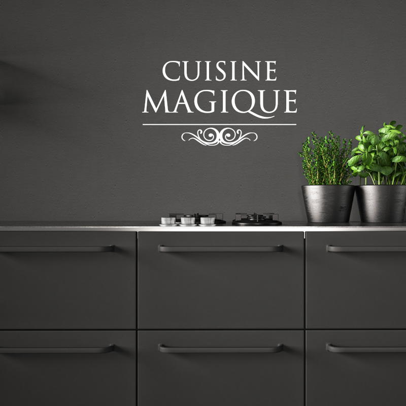 sticker citation cuisine magique stickers cuisine textes et recettes ambiance sticker. Black Bedroom Furniture Sets. Home Design Ideas