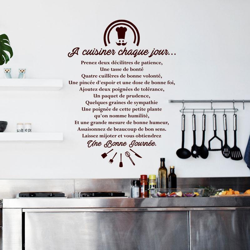 Sticker citation a cuisiner chaque jour stickers - Stickers cuisine citation ...