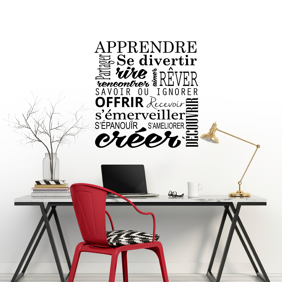 sticker citation apprendre cr er stickers citations fran ais ambiance sticker. Black Bedroom Furniture Sets. Home Design Ideas