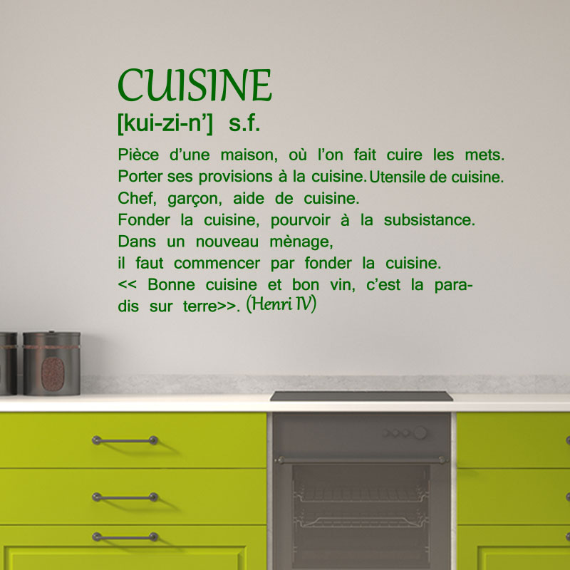 sticker citation bonne cuisine et bon vin henri iv stickers citations fran ais ambiance. Black Bedroom Furniture Sets. Home Design Ideas