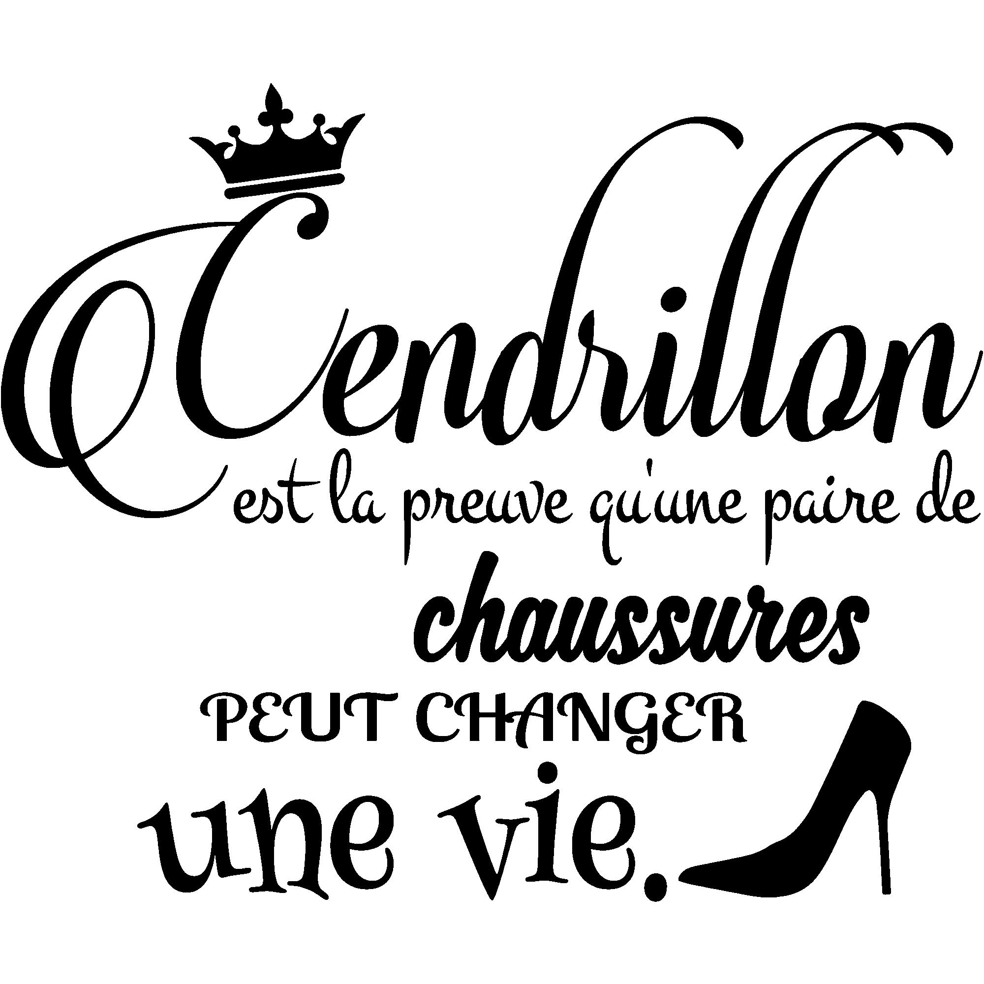 Sticker citation Cendrillon – Stickers Chambre Ado Fille