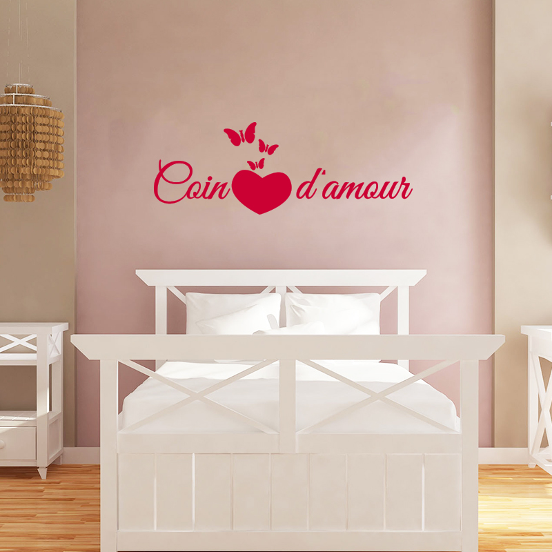 Sticker citation chambre coin d 39 amour stickers citations fran ais ambiance sticker - Stickers muraux citations chambre ...