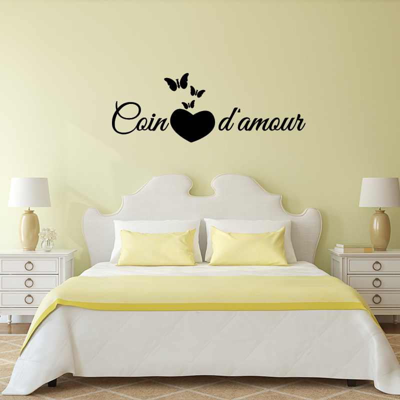 Sticker citation chambre coin d 39 amour stickers citations for Stickers phrase chambre adulte