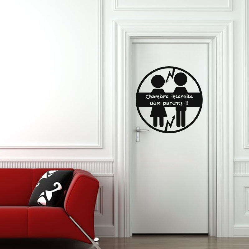 Sticker citation chambre interdite aux parents stickers citations fran ais ambiance sticker - Stickers muraux citations chambre ...