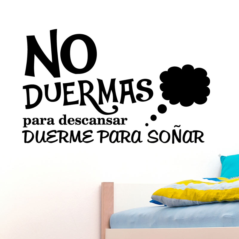 Sticker citation chambre no duermas para descansar stickers citations espagnol ambiance sticker - Stickers muraux citations chambre ...