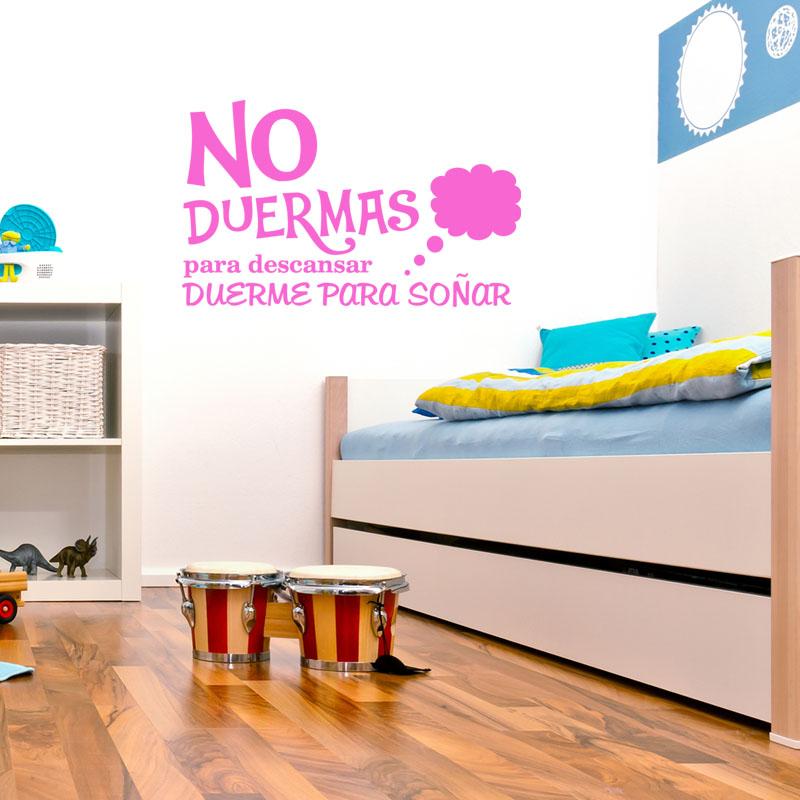 sticker citation chambre no duermas para descansar stickers citations espagnol ambiance sticker. Black Bedroom Furniture Sets. Home Design Ideas