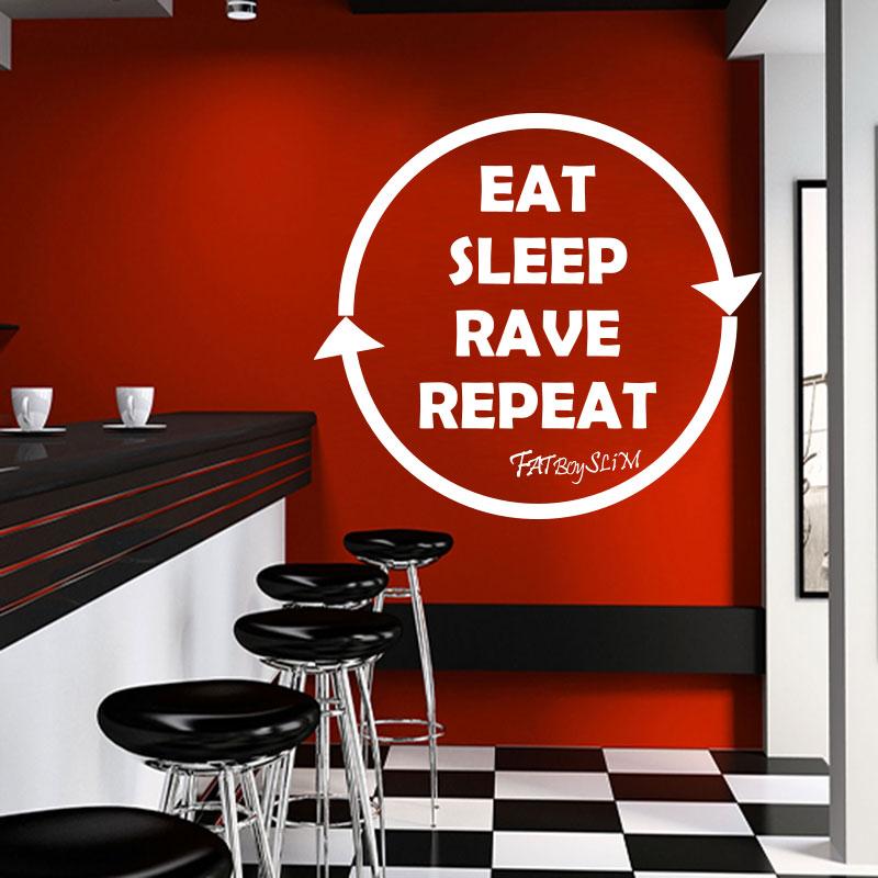 Sticker citation cuisine eat sleep rave repeat for Stickers cuisine citation