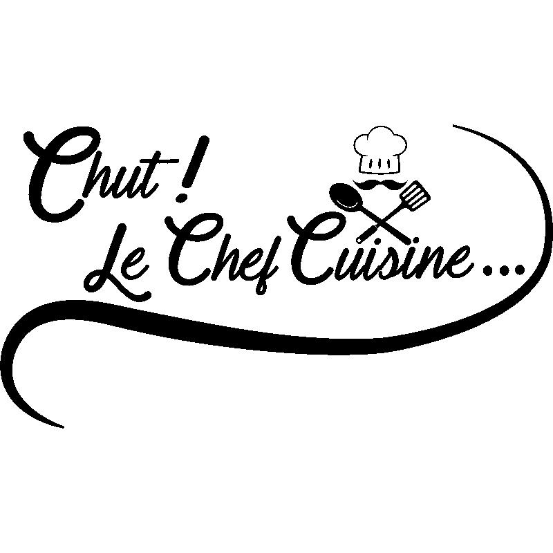 Sticker citation cuisine chut le chef cuisine stickers for Stickers de cuisine