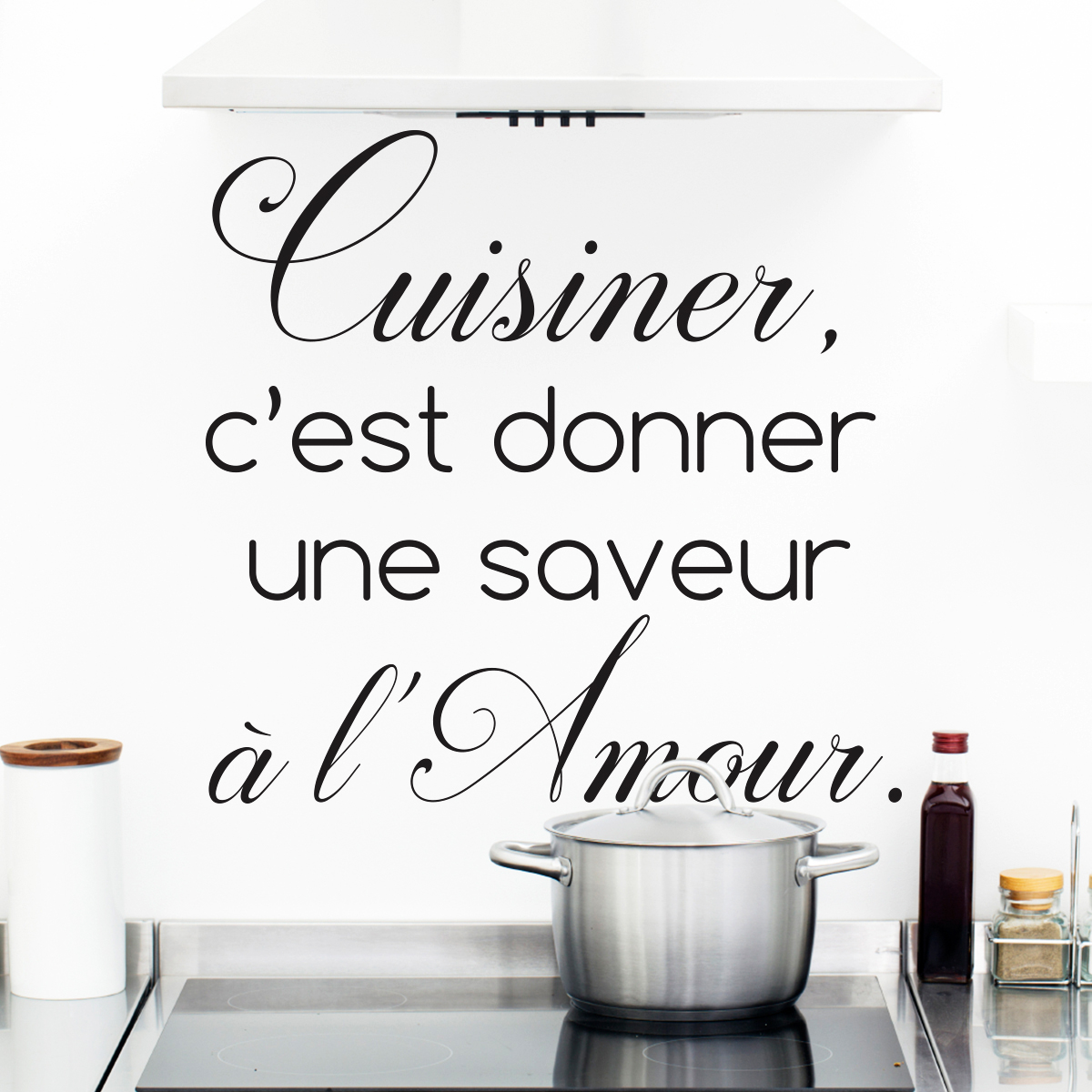 sticker citation cuisine cuisiner c 39 est donner une saveur stickers citations fran ais. Black Bedroom Furniture Sets. Home Design Ideas