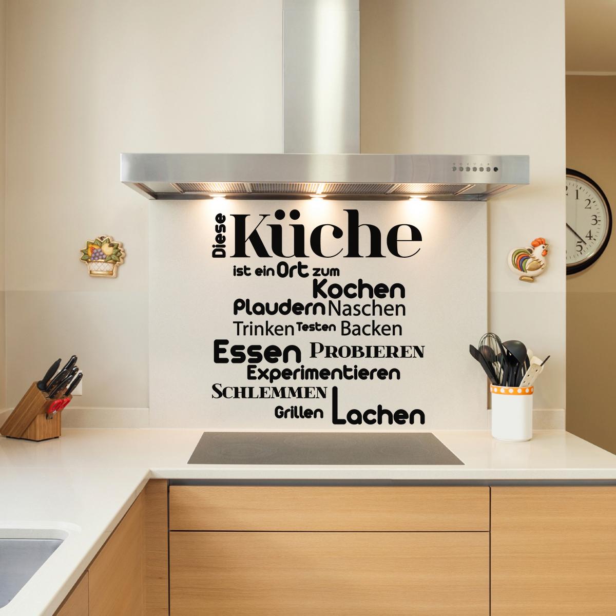 Sticker citation cuisine diese k che est ein ort zum - Stickers cuisine citation ...
