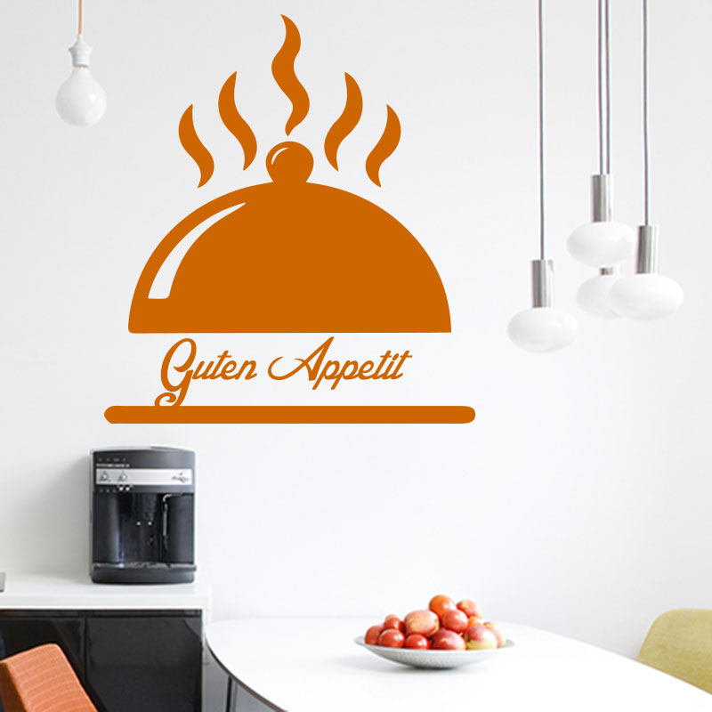 sticker citation cuisine guten appetit design stickers citations allemand ambiance sticker. Black Bedroom Furniture Sets. Home Design Ideas