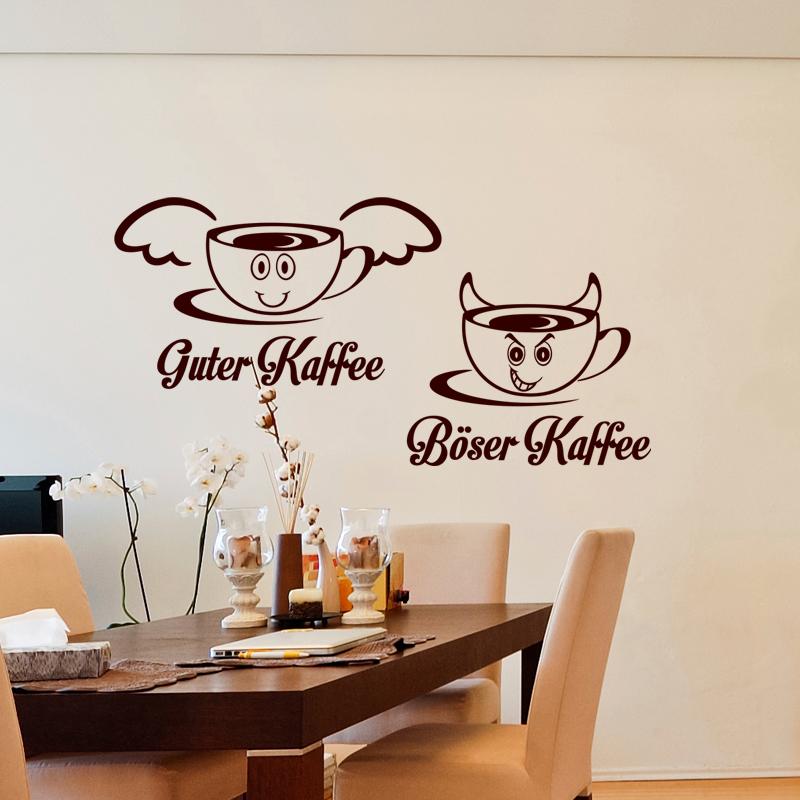 sticker citation cuisine guter kaffee b ser kaffee stickers cuisine caf et th ambiance. Black Bedroom Furniture Sets. Home Design Ideas