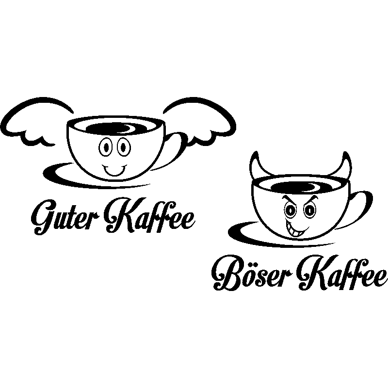 sticker citation cuisine guter kaffee b ser kaffee stickers cuisine caf et th ambiance. Black Bedroom Furniture Sets. Home Design Ideas