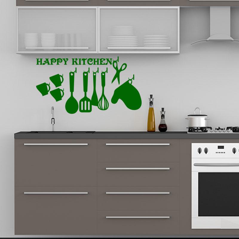 Sticker citation cuisine happy kitchen stickers - Stickers cuisine citation ...