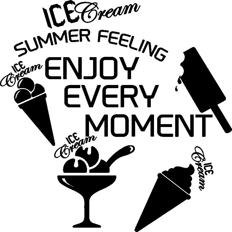 Sticker citation cuisine ice cream summer feeling for Stickers cuisine citation