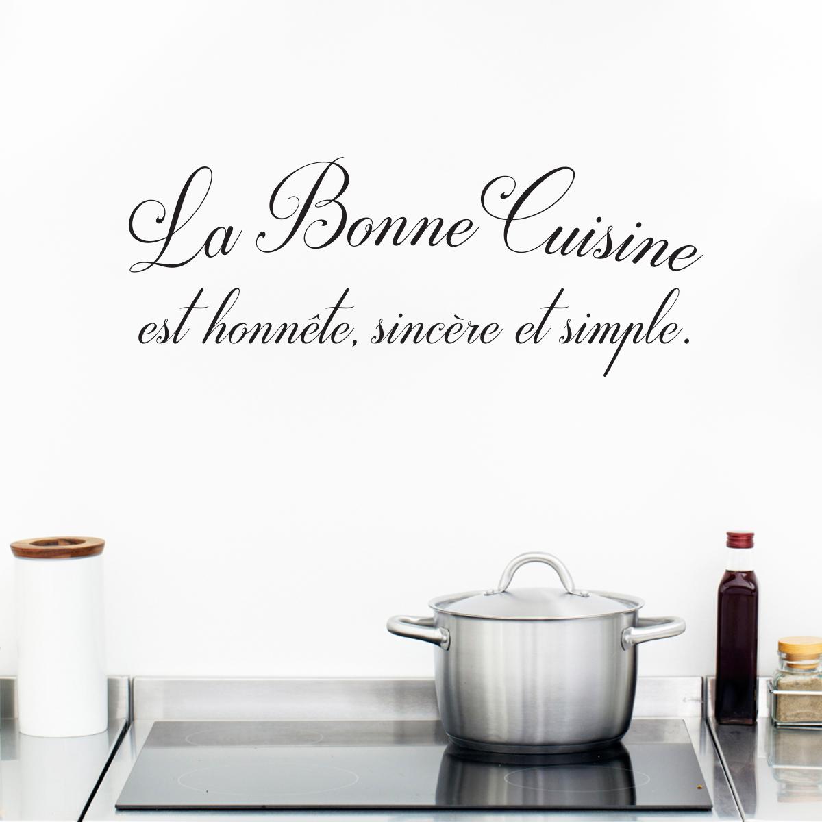 Sticker citation cuisine la bonne cuisine stickers for La bonne cuisine