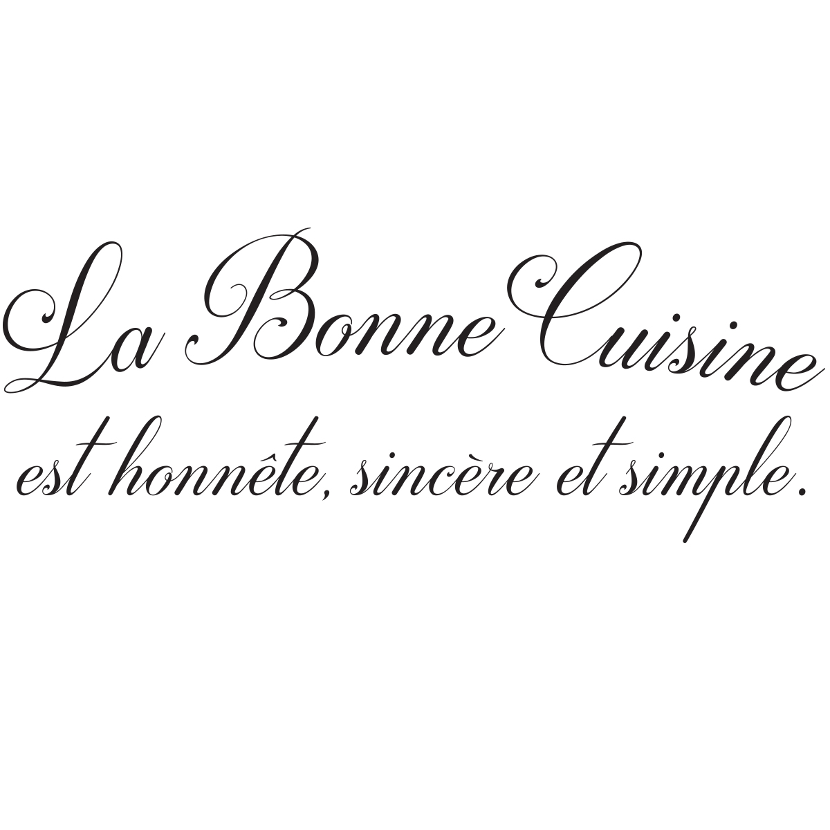 sticker citation cuisine la bonne cuisine stickers citations fran ais ambiance sticker. Black Bedroom Furniture Sets. Home Design Ideas