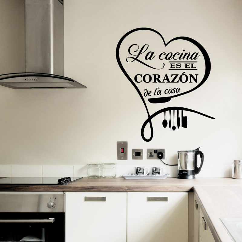 Sticker citation cuisine la cocina es el corazon de la casa stickers citations fran ais - La cocina en casa ...