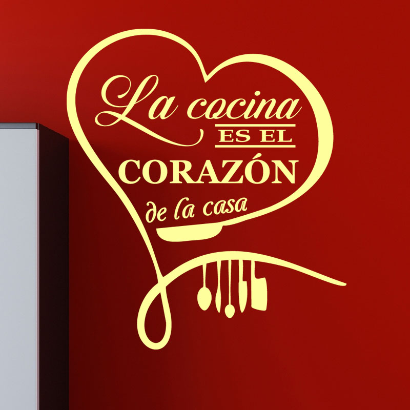 sticker citation cuisine la cocina es el corazon de la