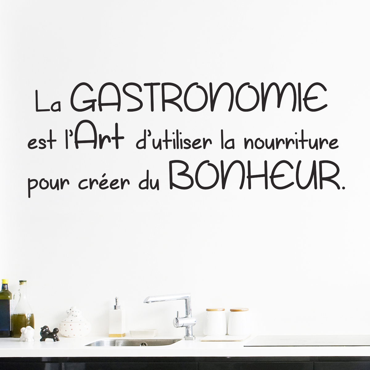 Exceptionnel Sticker citation cuisine La Gastronomie est l'Art – Stickers  WW38