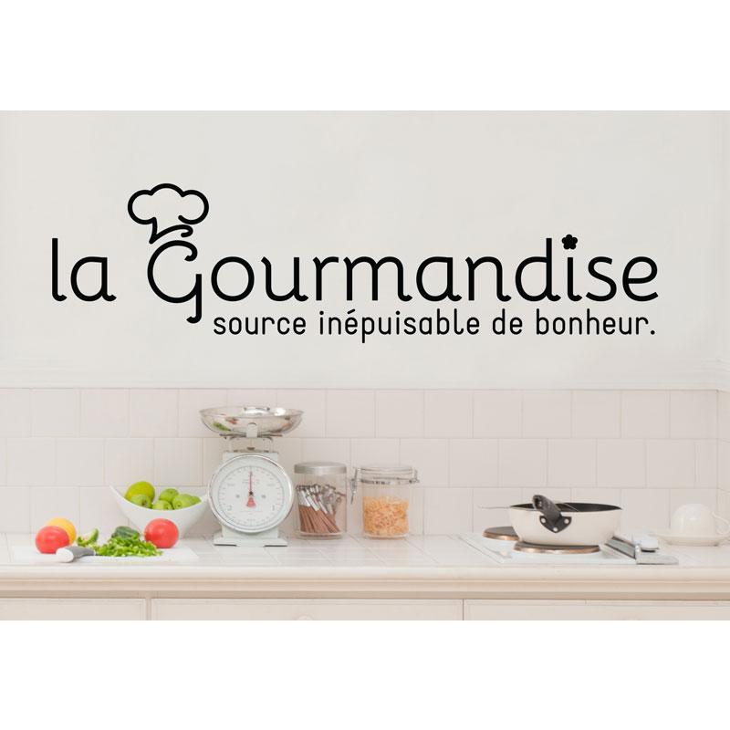 Sticker citation cuisine la gourmandise source de bonheur - Stickers cuisine citation ...