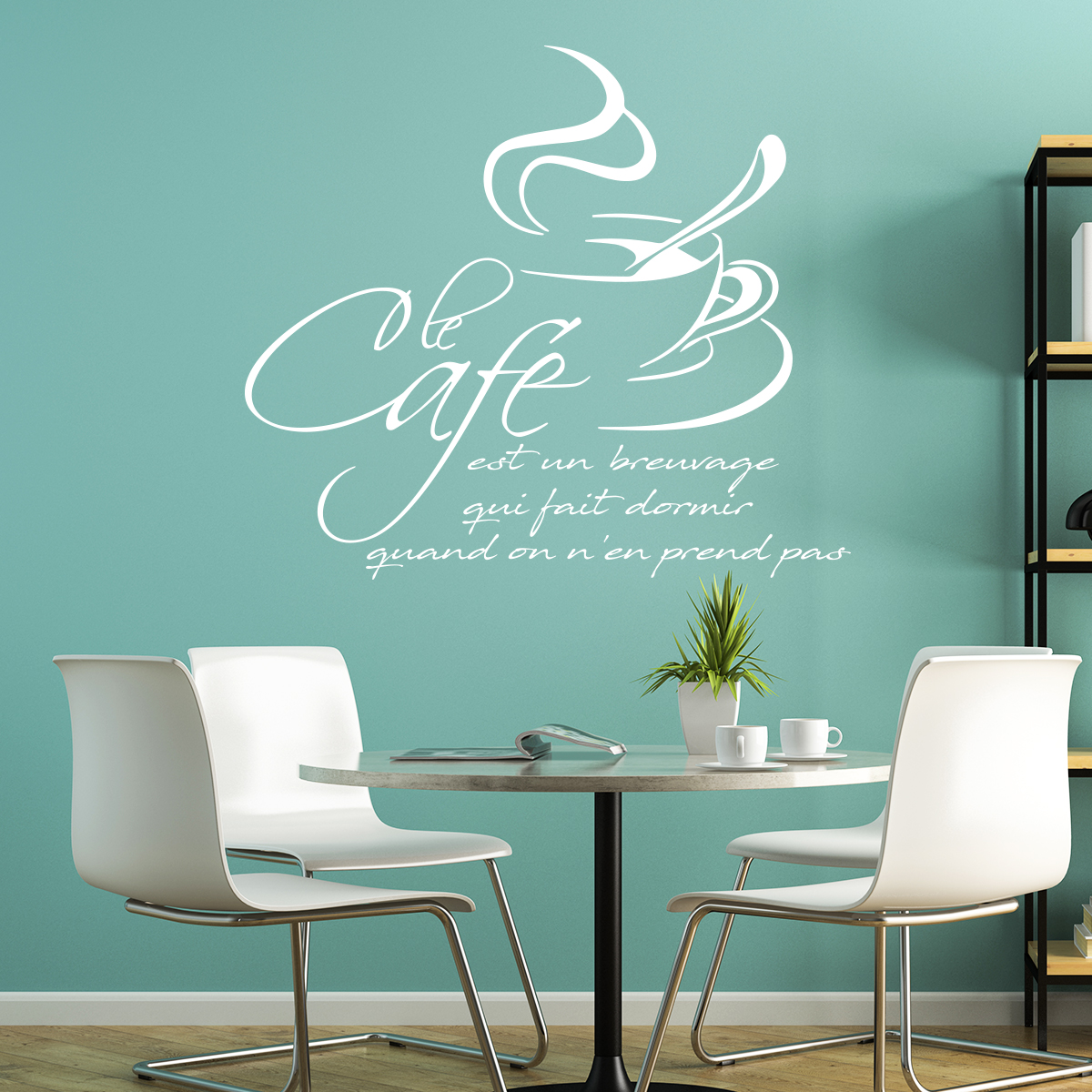 sticker citation cuisine le caf est un breuvage qui fait dormir stickers citations fran ais. Black Bedroom Furniture Sets. Home Design Ideas