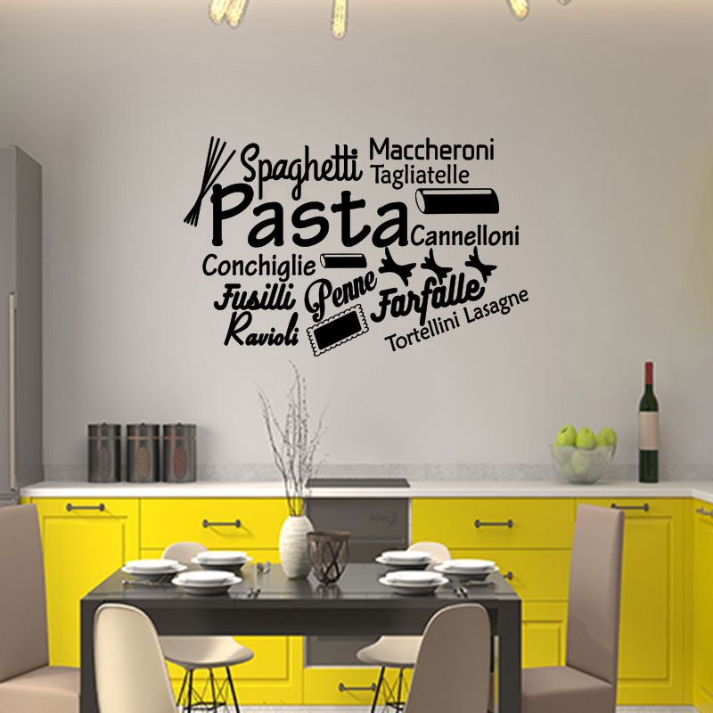 Sticker citation cuisine spaghetti maccheroni pasta - Stickers muraux cuisine ...