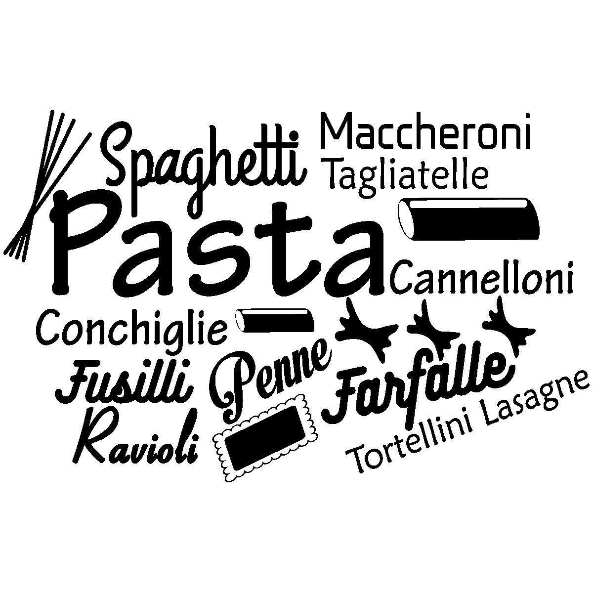 Sticker citation cuisine spaghetti maccheroni pasta for Stickers cuisine citation