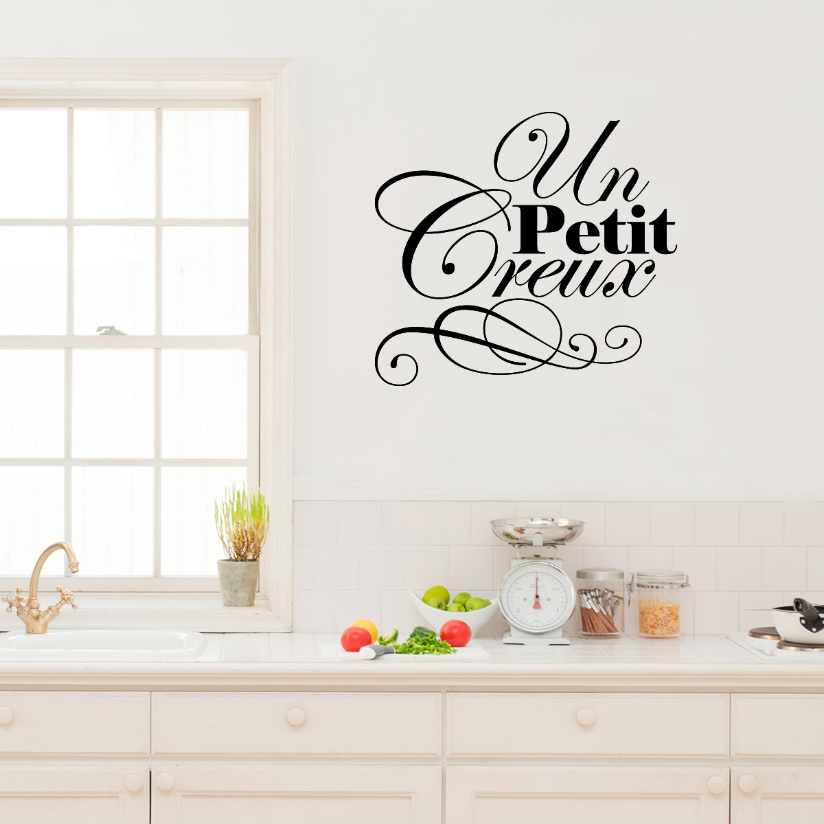 sticker citation cuisine un petit creux stickers cuisine textes et recettes ambiance sticker. Black Bedroom Furniture Sets. Home Design Ideas