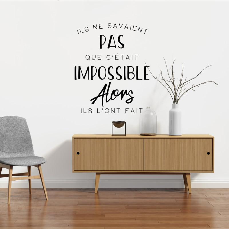 sticker citation design tout commence par un r ve stickers citations fran ais ambiance sticker. Black Bedroom Furniture Sets. Home Design Ideas