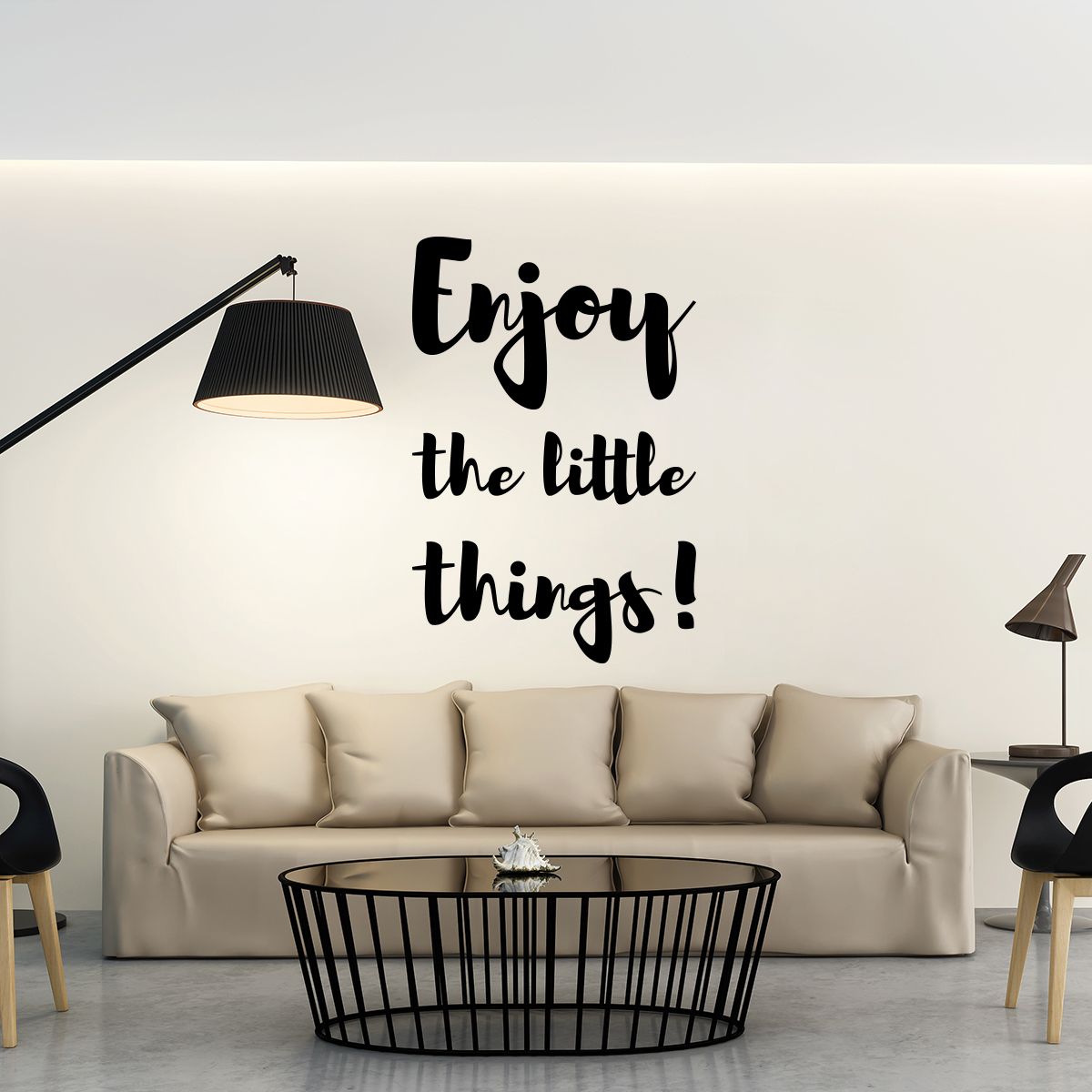 sticker citation enjoy the little things design stickers. Black Bedroom Furniture Sets. Home Design Ideas